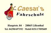 "Logo von ""Caesars Fahrschule"", Hauptstr. 84, 28865 Lilienthal, Tel.: 04298/697192, Mobil: 0151/17095689, matthiascaesar@gmx.de, Homepage: www.caesars-fahrschule.de ... und ab jetzt auch bei Facebook: www.facebook.com/CaesarsFahrschule"