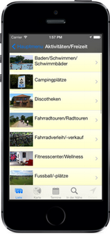 Screenshot der Gnarrenburg-App für iPhone, iPad + Android (www.gnarrenburg-app.de) - GPS-gesteuert Gnarrenburg neu entdecken ...