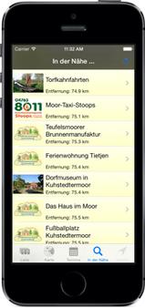 Screenshot der Gnarrenburg-App für iPhone, iPad + Android (www.gnarrenburg-app.de) - GPS-gesteuert Gnarrenburg neu entdecken ...