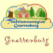 Logo der Gnarrenburg-App für iPhone, iPad + Android (www.gnarrenburg-app.de) - GPS-gesteuert die Teufelsmoorregion Gnarrenburg neu entdecken ...