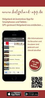 Flyer zur Helgoland-App für iPhone, iPad und Android (www.helgoland-app.de) - GPS-gesteuert Helgoland neu entdecken ...