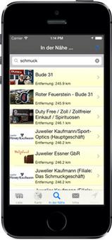 Screenshot der Helgoland-Insel-App für iPhone, iPad + Android (www.helgoland-app.de) - GPS-gesteuert Helgoland neu entdecken ...