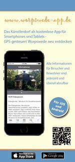 Flyer zur Worpswede24-App für iPhone, iPad und Android (www.worpswede-app.de) - GPS-gesteuert Worpswede neu entdecken ...