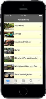 Screenshot der Worpswede24-App für iPhone, iPad + Android (www.worpswede-app.de) - GPS-gesteuert Worpswede neu entdecken ...